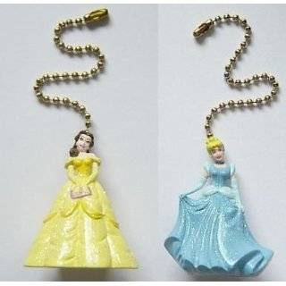 NEW Sale Princess Cinderella & Belle Ceiling Fan Pull Light Lamp by