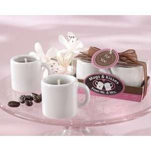 Mugs & Kisses from Mr. & Mrs. Ceramic Coffee Mug Candles