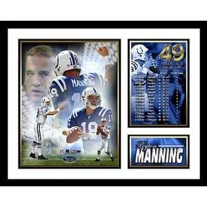 Peyton Manning Indianapolis Colts NFL Framed Photograph 49 TD Record