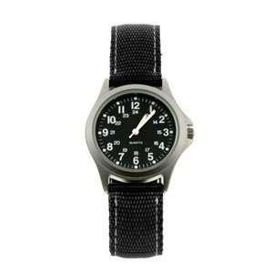 Field Watch, Rugged, SS Case, Black Nylon Strap, Black