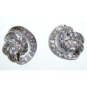 Light Purple Crystal Pierced Earrings Jewelry