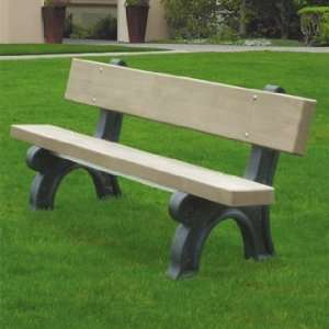 Providence Recycled Plastic Frame Benches Patio, Lawn