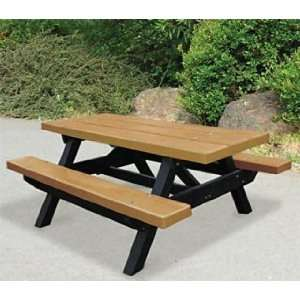 Providence Recycled Plastic Frame Tables Patio, Lawn