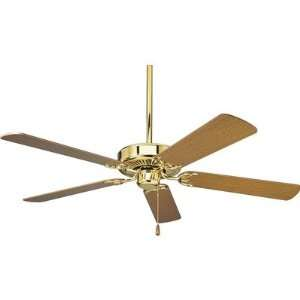 Energy Star Builder Ceiling Fan in Polished Brass