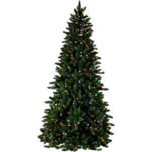 PRE LIT SPRUCE CHRISTMAS TREE   7.5 TALL   400 MULTI