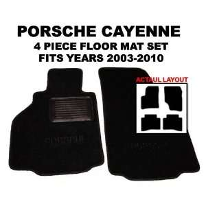 Porsche Cayenne OEM *BLACK* Floor Carpet Mats Matting (Two Piece Front
