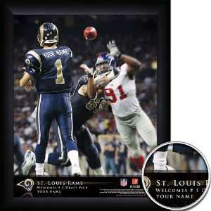 Louis Rams Personalized NFL Action QB Framed Print