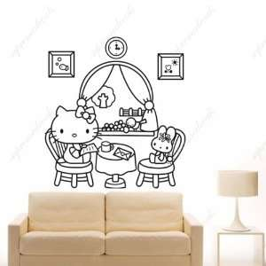 Kittys family   removable vinyl art wall decals murals home decor