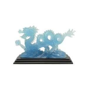 Glow in the Dark Blue Dragon Resin Statue