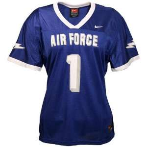 Nike Air Force Falcons #1 Royal Blue Ladies Replica Football Jersey