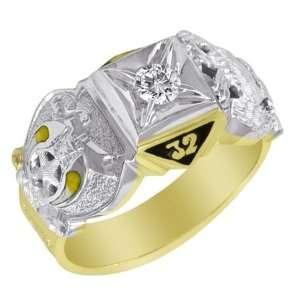 1/4 CT Diamond Scottish Rite Ring   10k Gold/10kt yellow