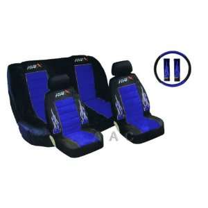 of Low Back Type X Racing Style Front Bucket Seat Covers, Bench Seat
