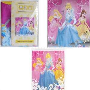 DISNEY PRINCESS CINDERELLA BELLE AURORA SHOWER CURTAIN