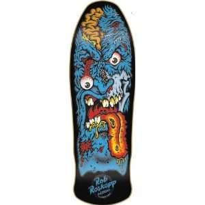 Santa Cruz Roskopp Face Ii Black Deck 9.9x30.8 Re Issue Skateboard