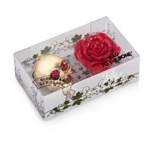 Gold Skull & Red Rose Lip Gloss Set   CD Health