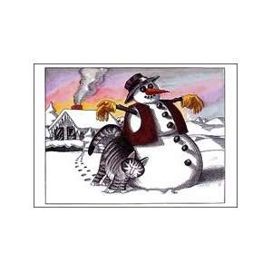 Kliban Cat Christmas Cards   Cat Snowman: Office Products