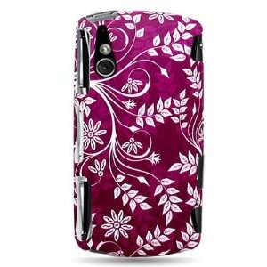 With PURPLE LEAF FLORAL Design Faceplate Cover Sleeve Case for SONY