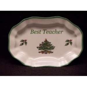 Spode Christmas Tree Mini Platter Best Teacher Kitchen