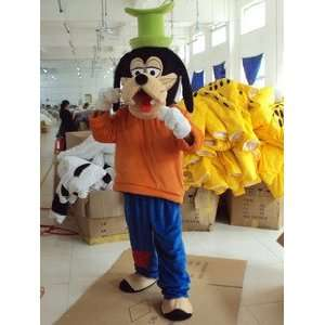 The Goof Troop Goofy DOG Adult Cartoon Mascot Costume : Toys & Games