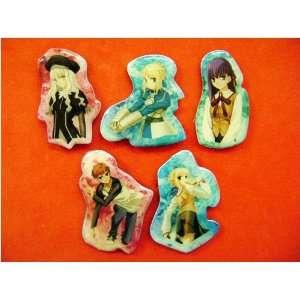 Fate/Stay Night 5pc Pin Set   Saber, Karen, Sakura Toys & Games