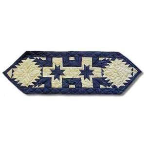 Feathered Star Table Runner Short 16 x 54 In.  Kitchen