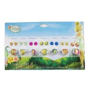 Disney Tinkerbell Tinker Bell Earrings & Rings Set   Tinker
