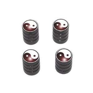 Yin Yang   Tire Rim Valve Stem Caps   Black Automotive