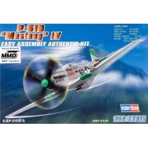 72 Easy Build P 51D Mustang IV (Plastic Model Airplane) Toys & Games