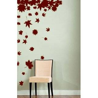 Vinyl Wall Art Decal Sticker Big Autumn Tree Leaves Falling