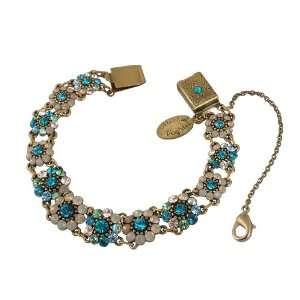 with Light Gray, Turquoise and Green Swarovski Crystals; Vintage