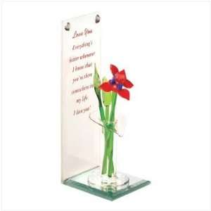 Art Glass Love Bouquet Valentines Day Gift Table Top