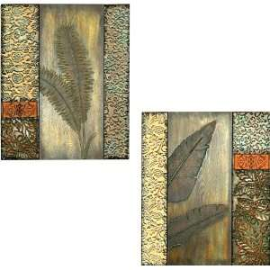 Piece Metal and Wood Tropical Wall Decor Home & Kitchen