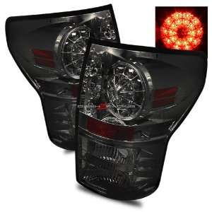 07 10 Toyota Tundra LED Tail Lights   Smoke Automotive