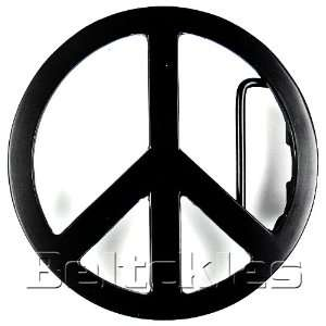 Sign No War Black Finishing Plain Belt Buckle for Peace Lover People