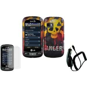 Danger Design Hard Case Cover+LCD Screen Protector+Car Charger for LG