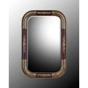 Hand Finished Hand Carved Wood Frame Bevel Mirror In