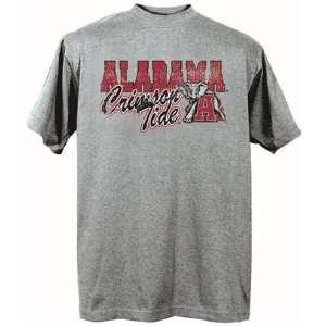 Alabama Crimson Tide UA NCAA Dark Ash Short Sleeve T Shirt