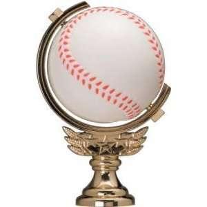 Gold 5 Spinning Soft   Baseball Trophy Figure Trophy