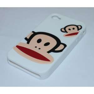 PF Monkey Designer White Iphone 4 Silicone Skin Case
