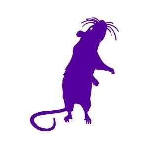 Rat small 3 Tall PURPLE vinyl window decal sticker
