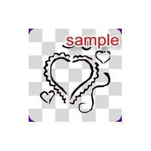 RANDOM VALENTINE HEART 10 WHITE VINYL DECAL STICKER