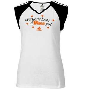 White Everyone Loves A Vols Girl Raglan T shirt Sports & Outdoors