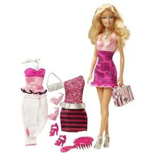 Barbie Doll And Fashions Barbie Gift Set  Toys & Games