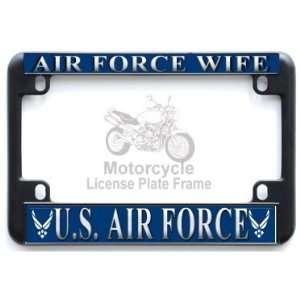 Motorcycle   USAF US Air Force Wife Black Metal Motorcycle
