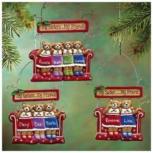 Personalized 4 Sisters Bear Ornament