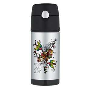 Water Bottle Live Free Birds   Peace Symbol Sign