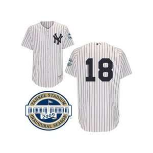 New York Yankees Authentic Johnny Damon Home Jersey w/2009