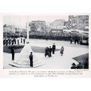 1950 Print King George England Plymouth Devon Drakes Drum Replica