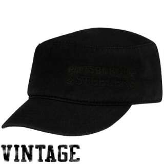 Reebok Pittsburgh Steelers Ladies Black Tonal Vintage Military Hat