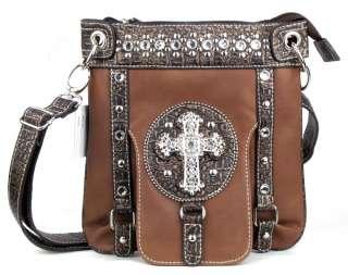 Western Brown Cross Messenger Bag Purse Handbag